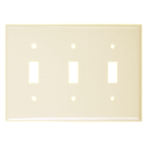 Wallplate Three Gang Toggle Switch, Ivory. Part # TP 1003 I.