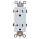Double Receptacle Tamper 15 amp, White. Part # TR 4000.
