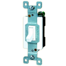 Single Pole 4 Way Switch Toggle, White. Part # TS4450 W.