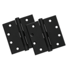 "Hinges: 4"" x 4"", Black (pair). Part # US10B"